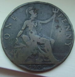 Coin 1902 Great Britain 1902 Edward Vii One Penny Coin