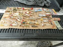 Antique And Vintage Fishing Lures And Spoons Wood,metal,rubber,plastic Lot Of 78