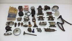 Mixed Lot Of Antique Early Car Automobile Parts Wipers Original Hardware Relays