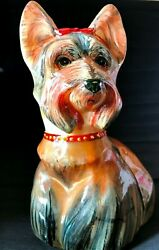 Yorkshire Terrier Stone Carvings figurine dog Exclusive single copy Russia