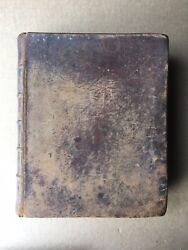 Antique 1834 H And E Phinney Holy Bible, Van Winkle Entry, Cooperstown, Ny, 766pgs
