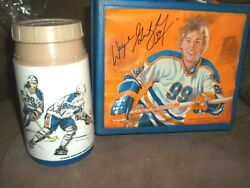 Vintage Wayne Gretzky 99 Nhl Hockey Plastic Lunchbox And Thermos Rare Collectible