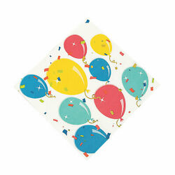 Party Balloon Luncheon Napkins - Party Supplies - 34 Pieces