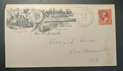 1899 White River Junction Vermont Advertising Cover Geo W Smith And Son
