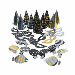 Black Gold amp; Silver New Year#x27;S Eve Party For 10 Party Supplies 30 Pieces $12.99