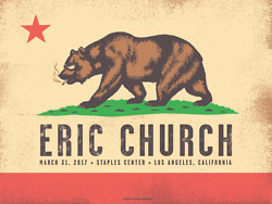 Eric Church Official Concert Poster Staples Center 2017 La Signed Numbered