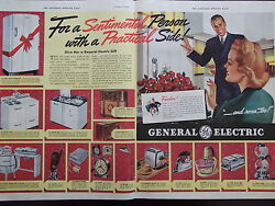 1938 General Electric Household Appliances 15 Items 2 Full Page Advertisement