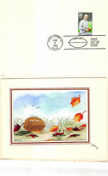 2376 22c Knute Rockne Kitty Galup Embroidered Hand Painted Cachet [2177]