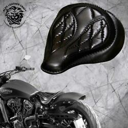 Solo Seat Indian Scout Since`17+mounting Kit+springs Spider Black V3 M