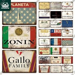 Wine Metal Sign Retro Poster Vintage Plaque Tin Bar Decor Home Hanging Plate New