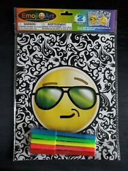 Emoji Art Craft Velvet Posters With Markers 2 Posters New Free Shipping
