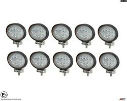 10 Hq 24w 12-24v Led 5.6'' Oval Led Work Lights Lamp Lorry Tractor Offroad 6000k