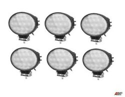6x Powerful Oval 65w Led Work Lights 12-24v Lamp For Agricultural Truck Tractors