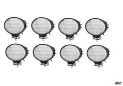 8x Powerful Oval 65w Led Work Lights 12-24v Lamp For Agricultural Truck Tractors