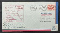 1952 Grand Forks North Dakota First Flight Air Mail Cover To Menlo Park Ca