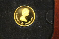 Canadian Gold Coin With Assay Certificate Rare Coin