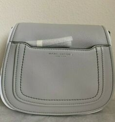 NWT Marc Jacobs Empire City Mini Messenger Leather Crossbody Bag $325 Light Grey $115.00