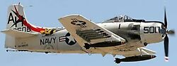 A-1 Skyraider Douglas A1 Airplane Desktop Wood Model Large Free Shipping New