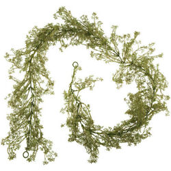 Modern Farmhouse Green Baby's Breath Garland 6' French Country Home Decor