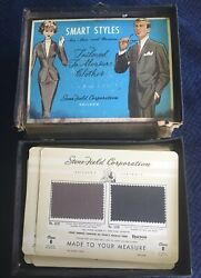 Saleman Sample Kit Mcm Made To Measure Suits Coats Men's Women's Fabric Swatches