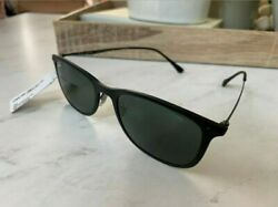 Ray Ban RB4225 New Wayfarer Light Ray Sunglasses Black With Green Lens 52mm $150.00