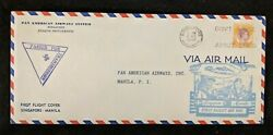 1941 Pan American Airways Inc Singapore Fdc Censorship Air Mail Cover To Guam