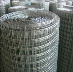 1 X 1 X 36 X 14 Gauge Galvanized After Welding 100and039 Wire Mesh
