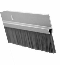Pemko Door Bottom Sweep, Clear Anodized Aluminum With 1 Gray Nylon Brush Ins...