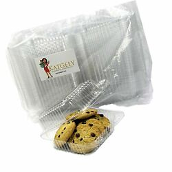 Katgely Extra Clear Square Cookie Container, Cake Slice Container, Pack Of 16...