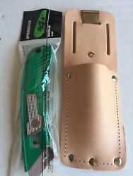 Pacific Handy Cutter S4sr Right Hand Safety Box Utility Knife And Leather Holster