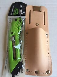 Pacific Handy Right Handed S5r Safety Box Utility Knife Cutter And Leather Holster