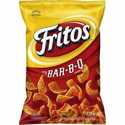 4 Bags - Fritos Corn Chips Bbq Large Size 340g Canadian Free Shipping