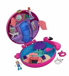 Polly Pocket Pocket World Flamingo Floatie Compact With Surprise Reveals, Mic...