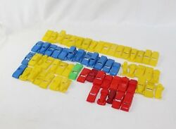 Vintage Lot 60+ 1950s Mpc Usa Made Plastic Toy Cars W/ Names Of Each On Trunk