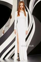 Emilio Pucci White Ball Gown Maxi Dress Uk8-10 It42 New Auth