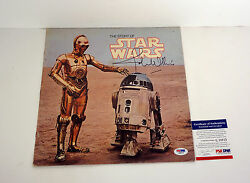 John Williams Signed Autograph The Story Of Star Wars Record Insert Psa/dna Coa