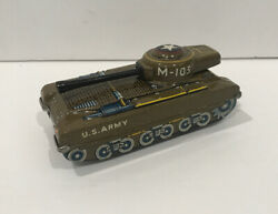 Vintage M-103 M-10 Tank Tin Sparking Military Japan Rs Toys Litho Friction
