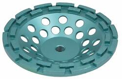 10-pack 7 Inch Diamond Cup Wheel Grinding Concrete,masonry, Double Row,5/8-11 T