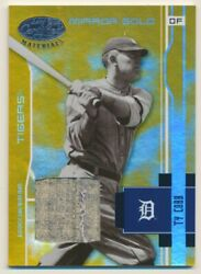 2003 Leaf Certified Materials Mirror Gold Materials Ty Cobb 4/5 Tigers E10319