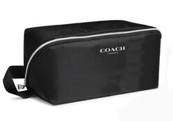 COACH fragrance black large TOILETRY cosmetic Dopp kit bag POUCH case travel new $29.99