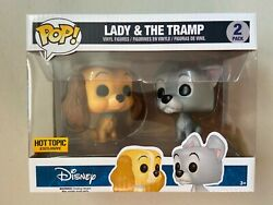 Funko Pop Hot Topic Exclusive Disney Lady And The Tramp 2 Pack New