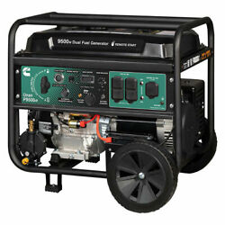 Cummins Onan 9500-w Portable Dual Fuel Gas Powered Generator With Remote Start