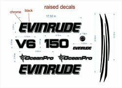 Evinrude Boats Emblem 150 Chrome + Free Fast Delivery Dhl Express -raised Decal