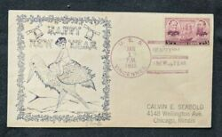 1938 Uss Vincennes Cruiser Us Navy Happy New Year Cover To Chicago Illinois Il