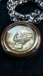 Hobo Nickel Necklace with 26quot; Stainless Steel Chain $20.99