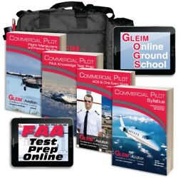 Gleim Deluxe Commercial Pilot Kit With Online Test Prep And Ground School - 2020