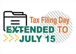 Tax Filing Day Extended To July 15 Tax Preparation | Adhesive Vinyl Sign Decal