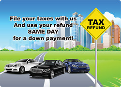 File Your Taxes With Us And Use Your Refund Same Day | Adhesive Vinyl Sign Deca