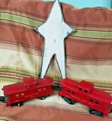 _vintage American Flyer 630 Red Reading + Lines 806 Caboose S-scale Lot
