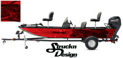 Pike Walleye Grunge Red Graphic Fishing Vinyl Bass Fish Wrap Kit Decal Boat Lure